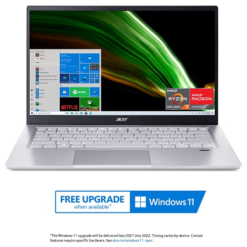 "Acer Swift 3 Thin & Light Laptop | 14"" Full HD IPS 100% sRGB Display | AMD Ryzen 7 5700U Octa-Core..."