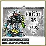 Valentino Rossi Calendario 2020 – Premium calendario da parete in formato DIN A2 – RIESIG
