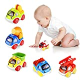 ShinePick Pull Back Cars, Toy Cars for Toddlers, Push and Go Vehicles Toys Friction Powered Car Toys Christmas Birthday Gift for Kids, Boys and Girls (6 Pcs)