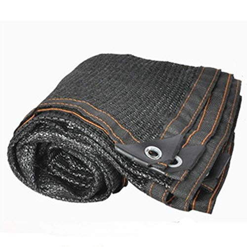 schaduwnet 95% Sunscreen Shade Cloth Wereld met knoopgaatjes voor balkondak carport zwart (kleur: zwart maat: 5x10m) 5x10m zwart