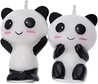 Qlychee Cute Feeder Unicorn Panda Shape Birthday Candles Unique Party Cake Decor Gift