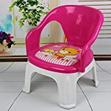 NGEL Baby Chair, Durable Plastic Chair for Kids, Soft Cushion Plastic Chair(Color & Print May Vary)