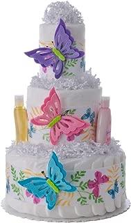 butterfly diaper cake centerpiece