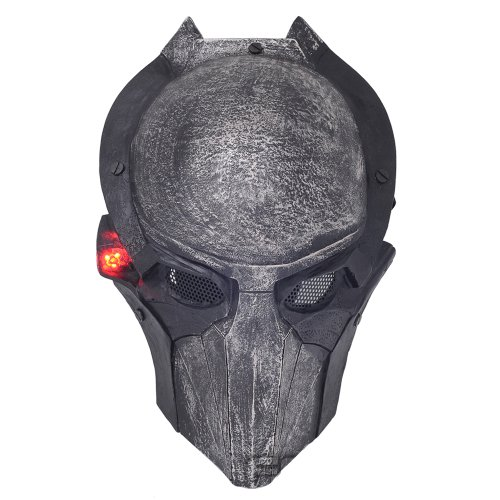 Brand New Wire Mesh Alien Vs Predator AVP Alien Falconer Full Face Protection Paintball Mask Luminous L800