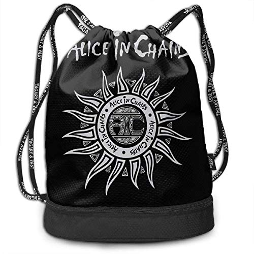 Mochila con cordón Men and Women General Travel Backpack Alice In Chains Light Unique Design Backpack Bag