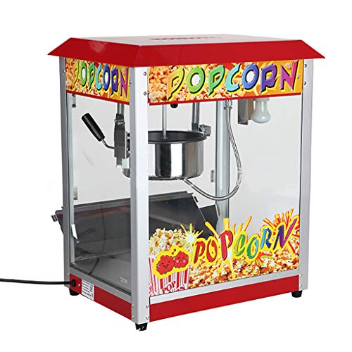 Why Choose Commercial Style Popcorn Popper Machine Makes,1300W Electric Popcorn Maker, Perfect for B...