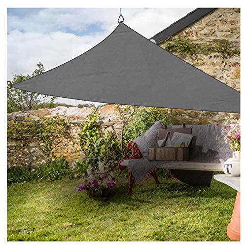 'N/A' Toldo Vela Triangular Gris, toldo para terraza de jardín Impermeable, protección UV, con 3 Cuerdas Libres(Size:6×6×6m,Color:Gris)