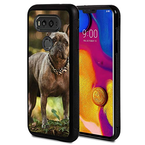 Compatible with LG G6 Case,French Bulldog Anti-Scratch Shock Proof Black TPU and PC Protection Case Cover for LG G6 2017 Release