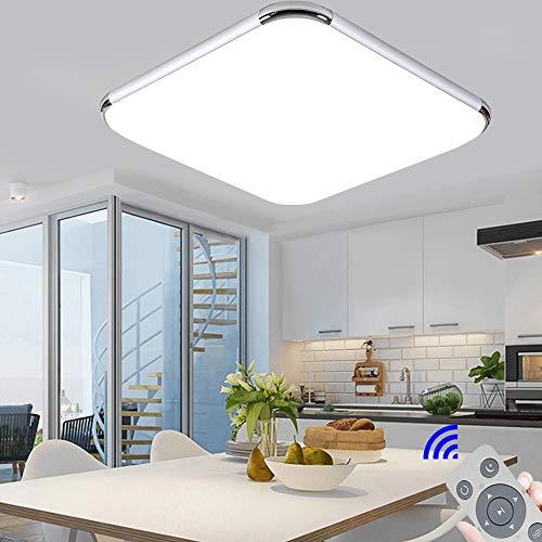 Ultraslim Regulable Led De Techo 36W Dormitorio Cuadrado Cocina Balcón Pasillo Sala de Estar Comedor [Clase de eficiencia energética A++]