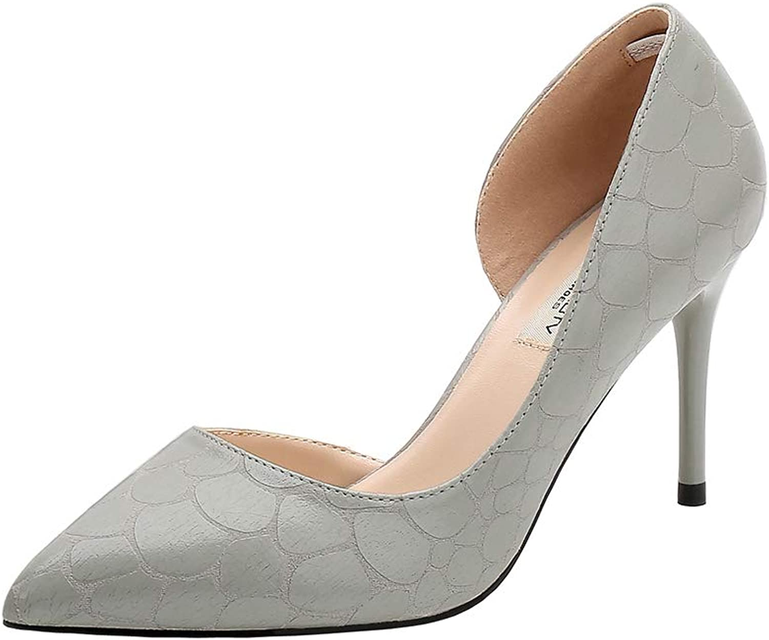 Soulength High Heel Ladies Stiletto Heel Pointed Snakeskin Pattern Shallow Pumps Fashion Sexy Breathable Single shoes