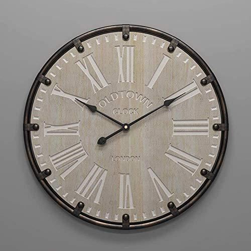 AIOJY Reloj De Pared Reloj De Pared Retro Mudo Creativo Minimalista Personalidad Hierro Artesanía Americano Metal Doméstico Decoraciones