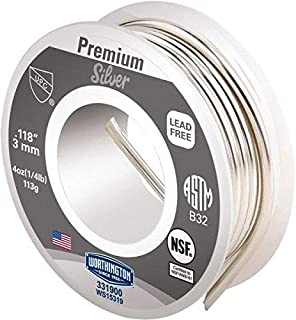 0.1180 Inch Diameter, Tin, Copper and Silver, Premium Silver Lead Free Solder pack of 10