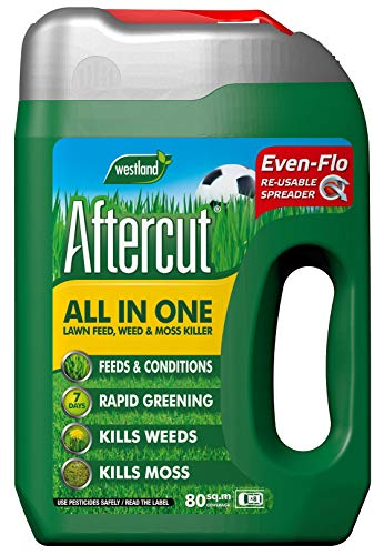 Aftercut All In One Lawn Feed, Weed and Moss Killer Even-Flo Spreader, 80 m2, 2.8 kg