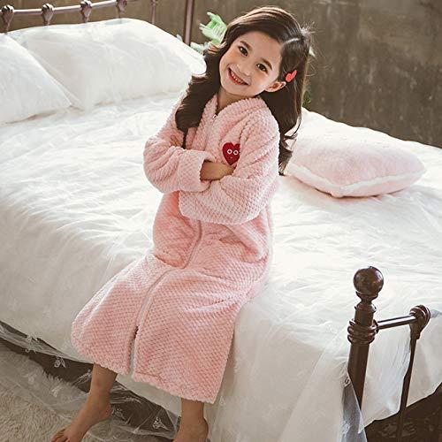 YPDM Badjas 4-12 Jaar Kinderen Winter Rits Badjas Flanel Meisjes Nachtkleding Voor Kinderen Tiener Meisje Nachtjapon Slaapmode Warm Pyjama Kinderen,5
