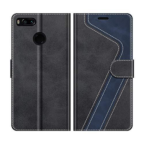 MOBESV Handyhülle für Xiaomi Mi A1 Hülle Leder, Xiaomi Mi A1 Klapphülle Handytasche Case für Xiaomi Mi A1 Handy Hüllen, Schwarz