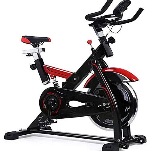 NFJ Bicicleta Indoor Spinning Ergonómica,Resistencia Regulable, Bici Entrenamiento Fitness con Sillín Ajustable, Pulsómetro Y Pantalla LCD,máx.200kg