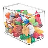 mDesign Organizador de juguetes con tapa - Cajas de almacenaje para guardar...