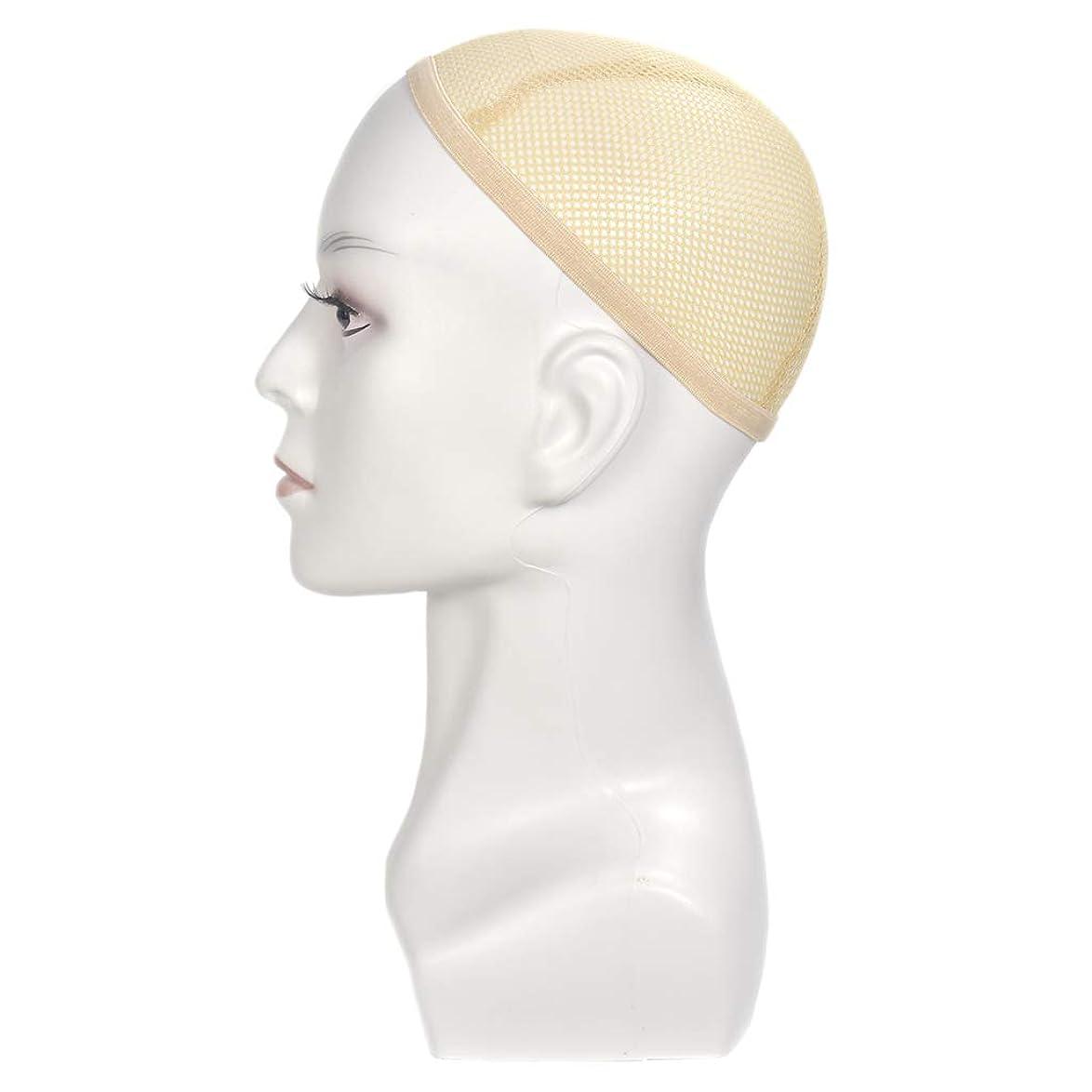 虫アクロバット下るウィッグ用マネキンヘッドディスプレイスタイリング理髪トレーニングヘッド13.8インチ-色の選択 - 白
