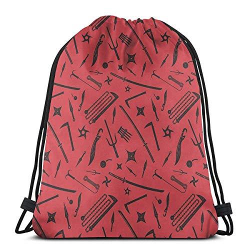 orangefruit Women Men Teen Sword Puzzle Drawstring Bags Gym Bag For School Hiking Yoga Gym Swimming Travel Beach 36x43 cm