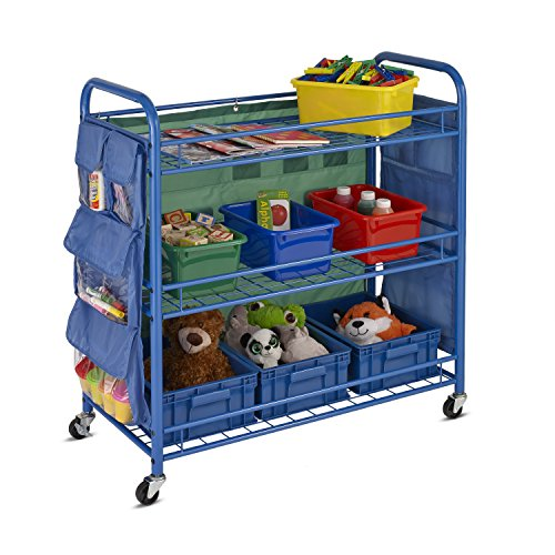 Honey-Can-Do All- Purpose Rolling Activity Cart, 34L x 35H, Blue