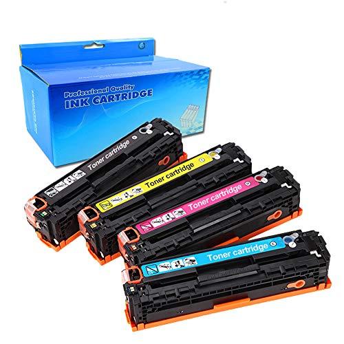 Ouguan - Juego de 4 unidades para HP Color Laserjet Pro MFP M281fdw M281fdn M280nw HP Color Laserjet Pro M254dw M254dn M254nw HP Color Laserjet Pro M254dw M254dn M254nw