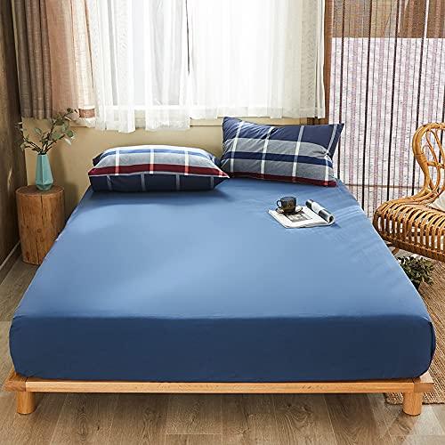 BOLO Juego de sábanas de 100% algodón egipcio de calidad de hotel, 1 pieza, extra profundo británico, mezcla de poliéster-algodón, 120 x 200 + 25 cm