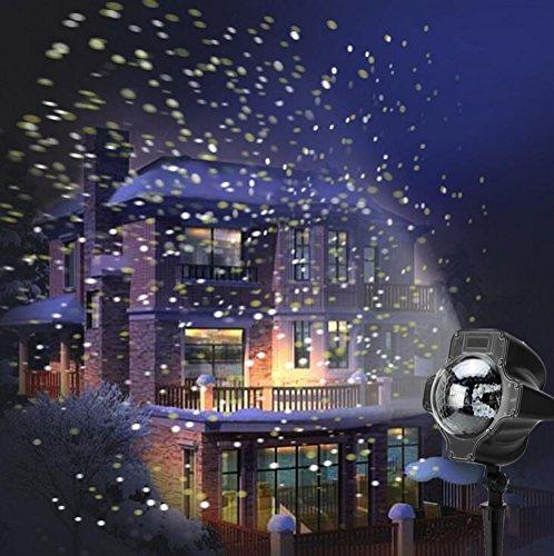 SMITHROAD LED Projektionslampe mit Fernbedienung Bewegliche Punkte Schneefall-Lichteffekt - Halloween - Karneval - Weihnachten Innen & Außen