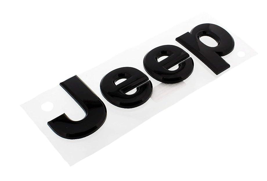 bearfire Jeep Grand Cherokee 2013 Gloss Black Jeep front hood emblem nameplate decal OEM
