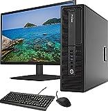 HP 600 G2 SFF Computer Desktop PC, Intel Pentium G4400 3.3GHz Processor, 16GB Ram, 128GB SSD + 500GB Hard Drive, Wifi & Bluetooth, New 20' Monitor, HDMI, AMD Radeon Phoenix 2GB GDDR5, Win 10 (Renewed)