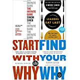 Simon Sinek 4 Books Collection Set (The Infinite Game, Start With Why, Leaders Eat Last, Find Your Why)