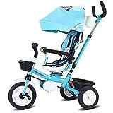 LYYJIAJU Enfant Chariot, 7 en 1 bébé Tricycle Poussette avec poignée de poussée, orienté vers l'arrière Siège, Roues en Caoutchouc, for Tout-Petits garçons et Les Filles