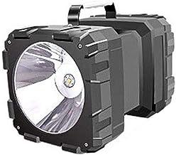 JUNKAI Lanterna de LED portátil recarregável para acampamento com duas cabeças, lanterna de emergência ao ar livre com bat...