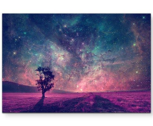 Paul Sinus Art Leinwandbilder   Bilder Leinwand 120x80cm Traumlandschaft