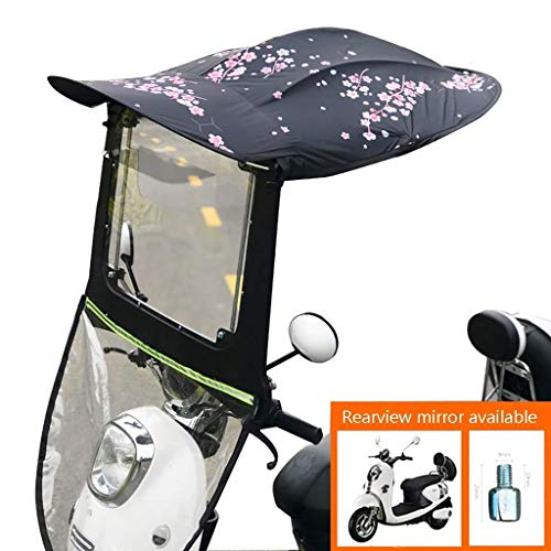 Qazxsw General Foldable Battery Car Sunscreen Windshield, Shell Shed Battery Car Sunshade, Motorcycle Rain Cover, Electric Car Sunshade, Electric Car For Rearview Mirror