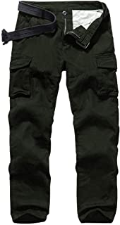 Jessie Kidden Men's BDU Casual Military Pants, Cotton Camo Tactical Wild Combat Cargo ACU Rip Stop Trousers with 8 Pockets...