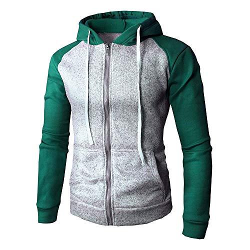 Mantel Herren Winter, Holeider Jacke Hoodie Slim Fit Outwear Sweatshirt Tasche Reissverschluss, Männer Sportjacke Pullover mit Kapuzen