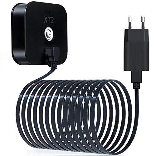 Basesailor 6M Blink XT XT2 Ladekabel mit Ladegerät,Wandadapter Stromversorgung und rechtwinkligen 90 Grad Micro USB Flach Kabel,Outdoor Wasserdichtes Netzteil Stromkabel für Blink XT XT2