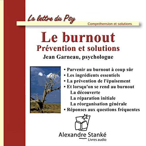 Couverture de Le burnout. Prévention et solutions