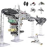 Mold King 21001 Nebulon-B Frigate Gran juego de construcción MOC,6388 piezas escolta fragata nave espacial grande MOC bloques terminales conjunto compatible con Lego A,118 * 25 * 55cm