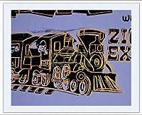 ポスター アンディ ウォーホル トレイン 1983年 額装品 アルミ製ベーシックフレーム(ホワイト)