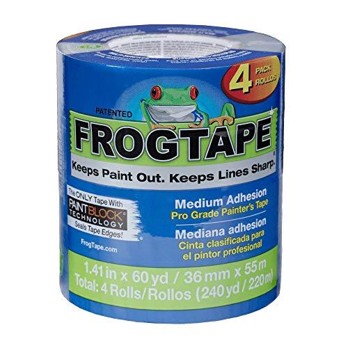 Shurtape CP-130 FrogTape Brand Pro Grade Malerband: 1.41 in. x 60 yds. (Blau) / 4-pack