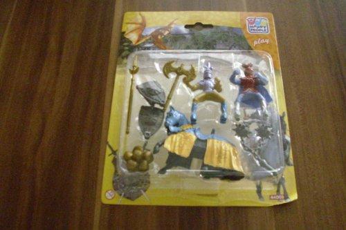 Happy People Ritter Reiter Figuren Set, zwei Reiter, ein Pferd und