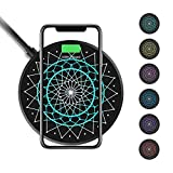 Nillkin Fast Wireless Charger, 15W Qi Wireless Charging Pad Anti-Slip with Colorful LED for iPhone Xs/XS Max/XR/X/8 Huawei P30 Pro Xiaomi Mi 9 Samsung Galaxy S10 S10+ S10e S9+ S8 Plus