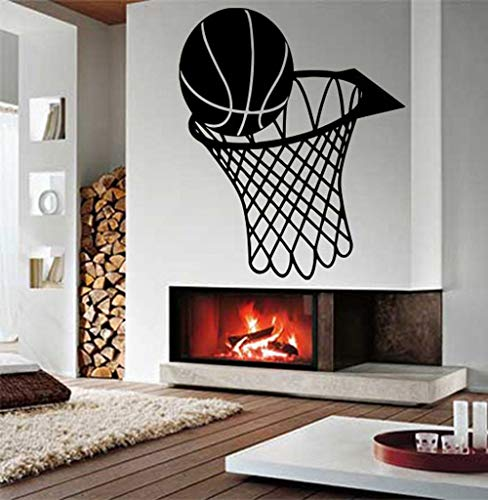 HFDHFH Calcomanía de Pared Baloncesto Kindergarten Deportes Mural niño habitación Arte patrón Pared Pegatina Vinilo Pegatina