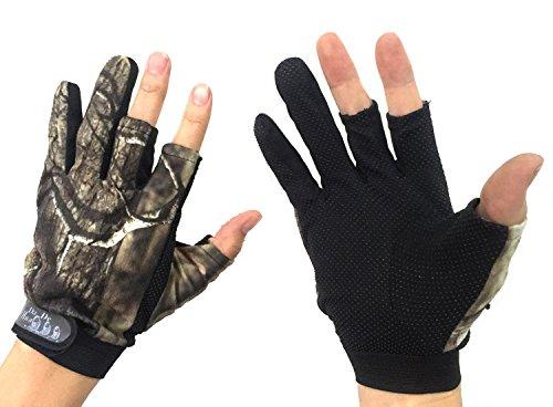 Angelhandschuhe/Jagdhandschuhe mit 3-Finger-Cut, Tarnfarbe, 1 Paar