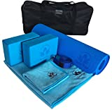 Yoga Set Kit 7-Piece 1 Yoga Mat, Yoga Mat Towel, 2 Yoga Blocks, Yoga...