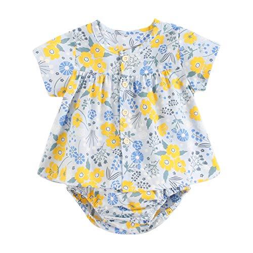 UMore Bebe Monos Peleles para Recien Nacido Niña Niño 0-24 Meses Ropa Verano Pijama Bebé Pelele de Algodó