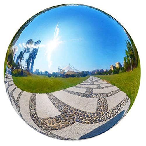 30 cm//12 inch Garden Sphere Mirror Gazing Ball,Rose Gold Stainless Steel Polished Reflective Smooth Hollow Globe Ball,Durable Colorful and Shiny Decorations Addition to Garden Patio Yard Home