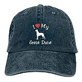 VenAZ I Love My Great Dane Adult Cowboy Hat Woman's Men Outdoor Casquette Adjustable