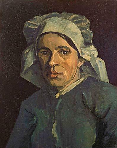 Cnvuos 5d Diamant Painting Full Van Gogh malte Bäuerin im weißen Hut Malen nach Zahlen Kit Bild Liefert Kunsthandwerk Wandaufkleber Dekor 40 * 50cm
